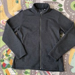 Men's L/G Frank & Oak Hunter Green Fleece Jacket